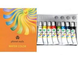 Краска для Nai art акриловая на водной основе 6 мл (8 цветов) Planeta Nails