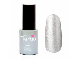 Гель лак Tertio 10мл  008(Серебряный с микроблестками, плотный)