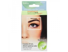 Godefroy Eyebrow Tint Dark Brown Краска-Хна в 4 капсулах для бровей Темно-Коричневая