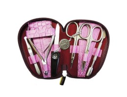 Маникюрный набор Zinger 7103-S (6 инструментов, ручная заточка, цвет серебро)