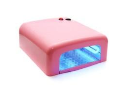 УФ лампа для ногтей 36 Ватт  с таймером 120 секунд(светло-розовая)