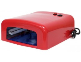 Уф - Лампа 36вт  с таймером, 120 cек цвет- красный