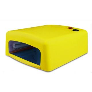 УФ лампа для ногтей 36 Ватт c таймером 120секунд (желтая)