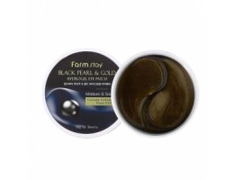 Патчи для глаз FarmStay Black Pearl & Gold Hydrogel Eye Patch (90шт)