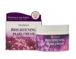 Deoproce Moisture Brightening Pearl Cream - Крем для лица питательный с экстрактом жемчуга, 100 г