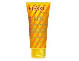 Бальзам-кондиционер серебристый для светлых и седых волос с антижелтым эффектом Nexxt Professional