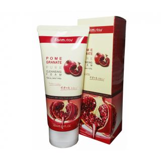 FarmStay Pomegranate Pure Cleansing Foam - Пенка очищающая с экстрактом граната, 180 мл