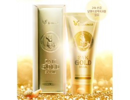 Очищающая пенка Elizavecca 24K Gold Snail Cleansing Foam 180мл
