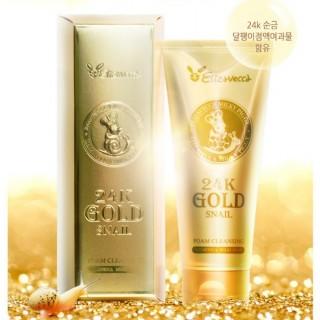 Очищающая пенка Elizavecca 24K Gold Snail Cleansing Foam 180мл