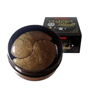 Miskin, Гидрогелевые патчи c коллоидном золотом и древесным углем Gold Dia Black, 60 шт.